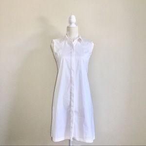 EUC Zara Woman white button down dress S